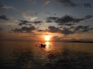 Sunset on West side of Gili Air