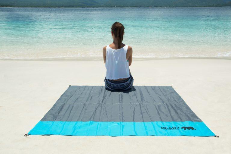 BEARZ Outdoor Pocket blanket - blue