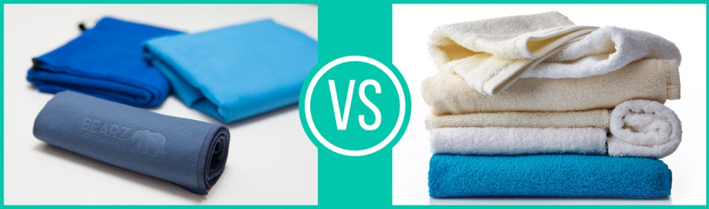 BEARZ Outdoor Microfiber Towels vs cotton towels