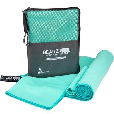 BEARZ Outdoor Microfiber Towels - Mint Green