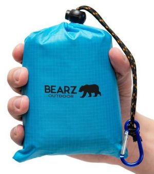 BEARZ Outdoor Pocket Blanket Blue