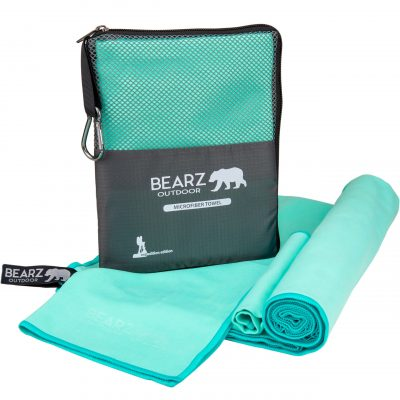 BEARZ Outdoor Microfiber Towels - mint green